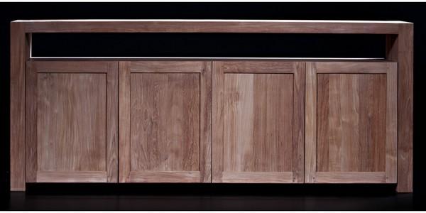 buffets buffets en teck. Black Bedroom Furniture Sets. Home Design Ideas