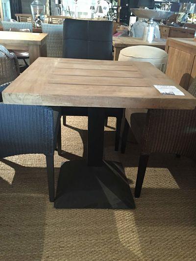 Tables la maison du teck meuble et d co en teck - Table de bistrot carree ...