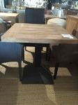 table bistro carré pied métal