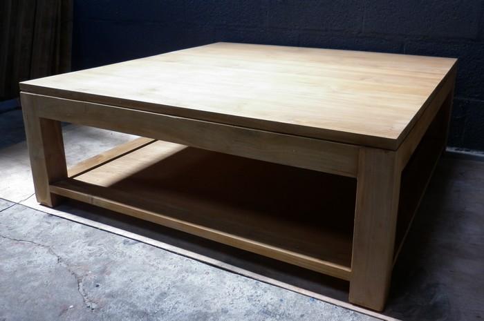 tables basses table basse en teck. Black Bedroom Furniture Sets. Home Design Ideas