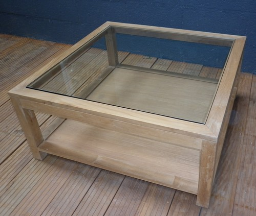 La maison du teck meubles et d coration en teck for Table basse vitree