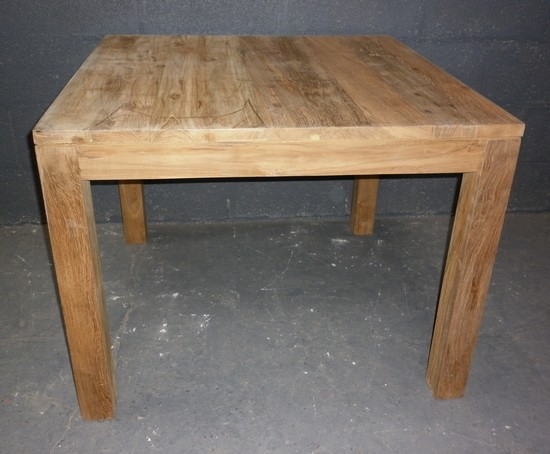 Tables table de repas en teck sans allonges for Table sejour carree avec rallonge