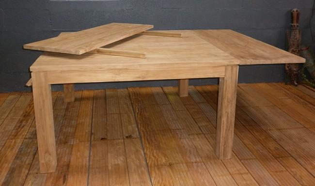 tables a rallonges la maison du teck meuble et d co en. Black Bedroom Furniture Sets. Home Design Ideas