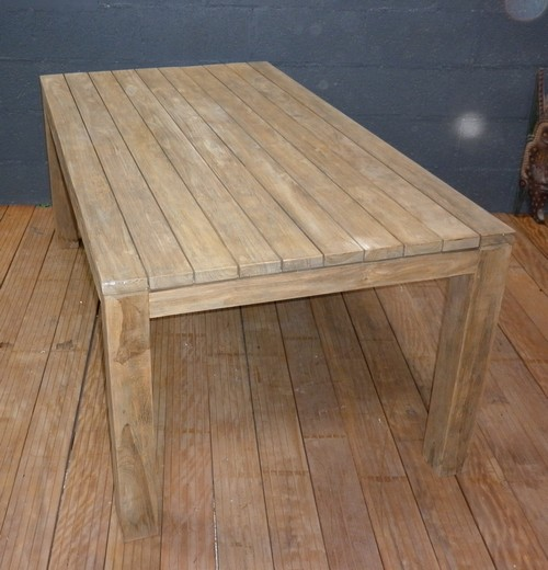 Tables la maison du teck meuble et d co en teck - Table en teck recycle ...