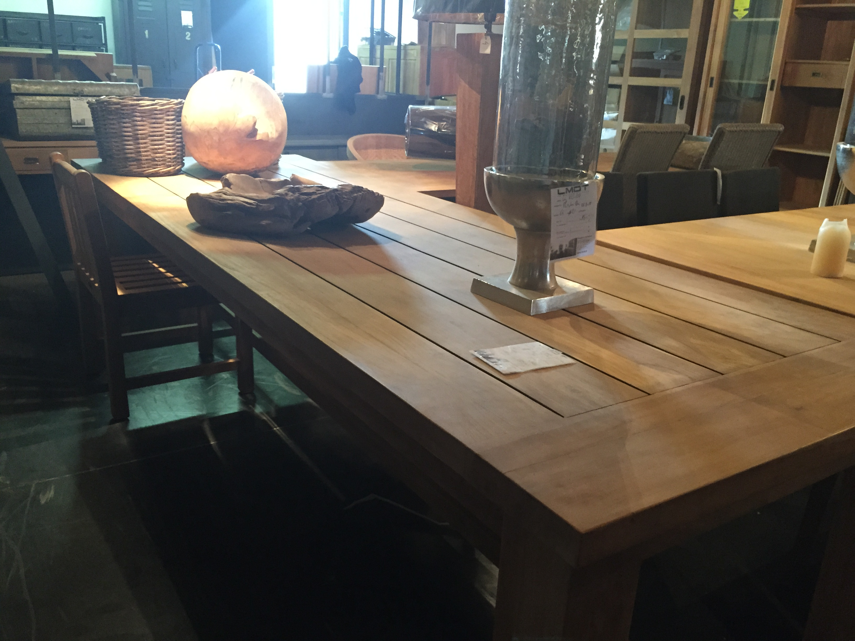 TABLES|Table de repas en teck, sans allonges