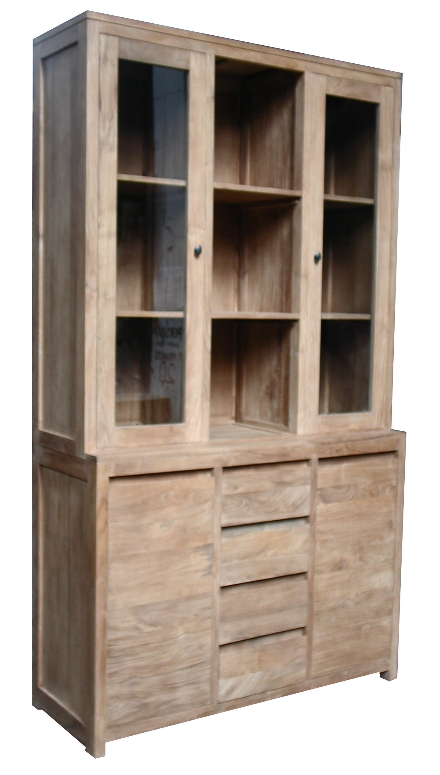 bibliotheque vitrine la maison du teck meuble et d co en teck part 2. Black Bedroom Furniture Sets. Home Design Ideas