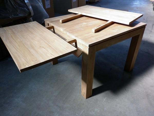 TABLES A RALLONGES|Table en Teck
